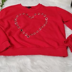 Forever 21 size L  red sweatshirt